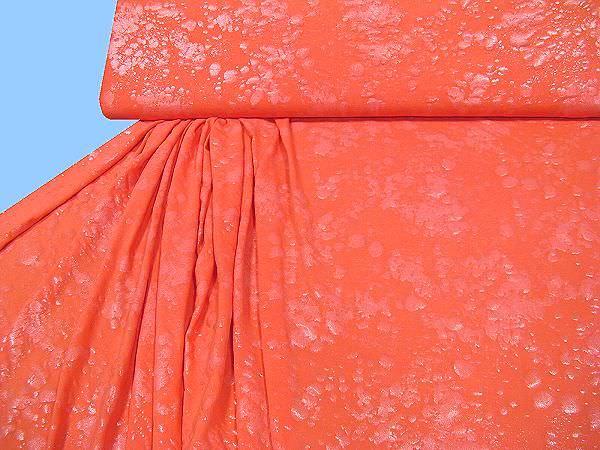 Slinky-Jersey Wassertropfen - lachs (Reststück 2,6m)