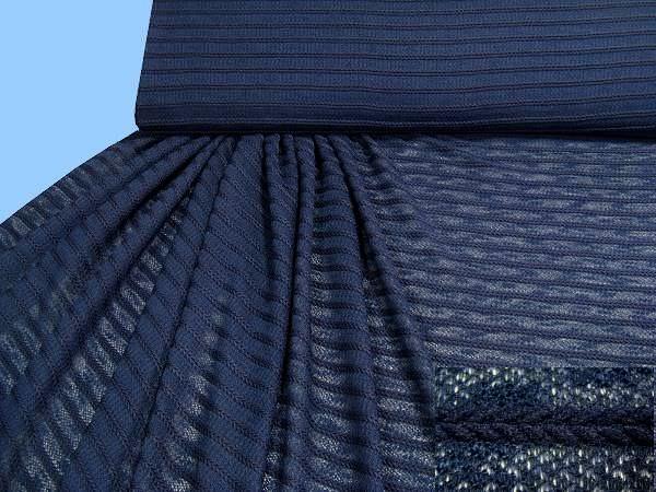 Feinstrick uni - dunkelblau