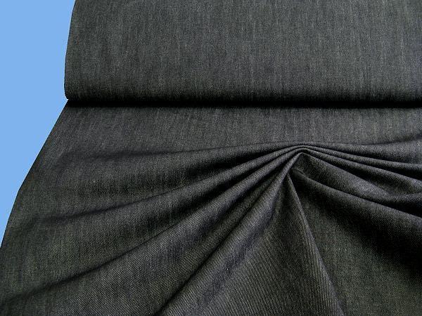 Jeansstoff meliert - schwarz