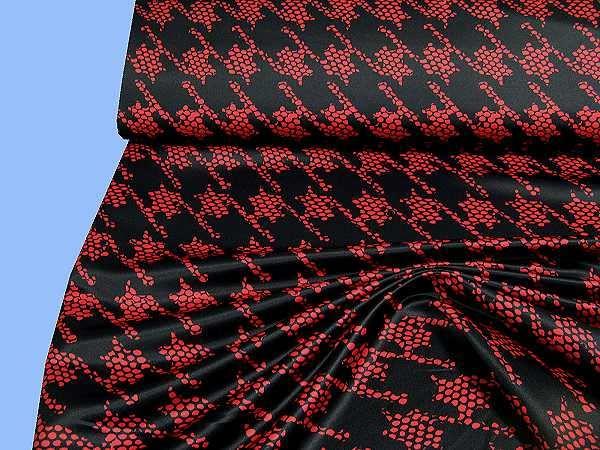 Jackenstoff - schwarz/rot