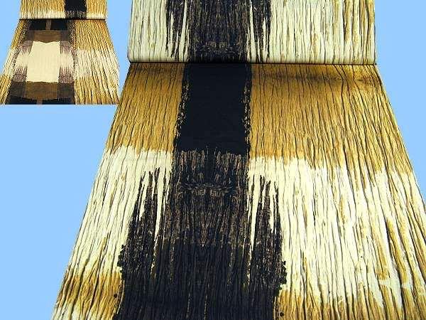 Feinjersey mit großem Muster - wollweiss/hellgelb/beige/hellbraun/dunkerbraun/schwarz