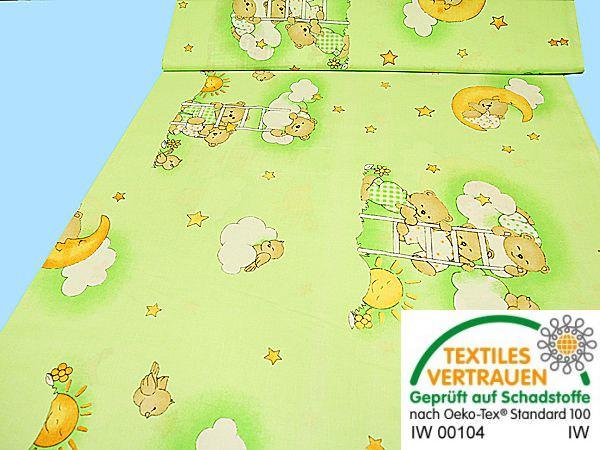 Baumwollstoff - hellgrün/grün/weiss/beige/gelb/apricot/hellbraun