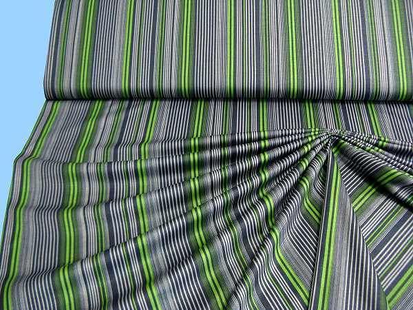 Feinjersey - grau/anthrazit/grün/weiss