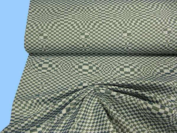 Kleider- und Kostümstoff - taubenblau/wollweiss/beige