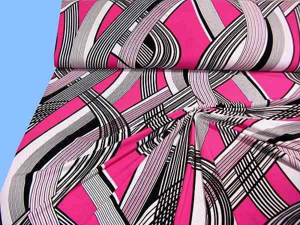 Jersey - weiss/schwarz/pink