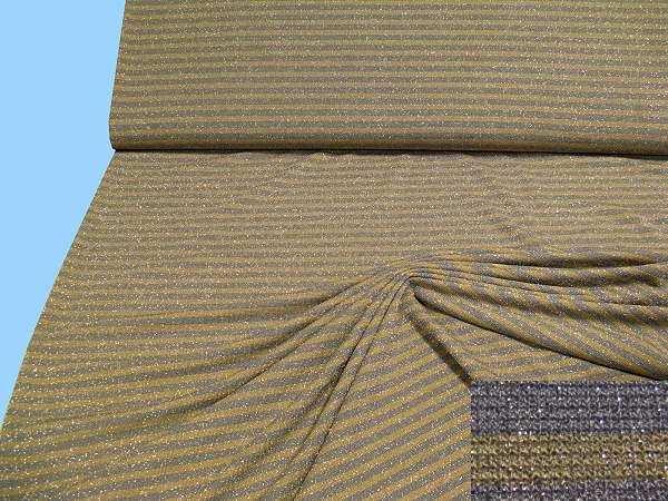 Feinstrick mit Lurex - taupe/beige/ silber