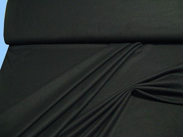 Kostümstoff angeraut uni - schwarz (Reststück 4,5m)
