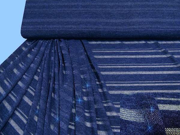 Feinstrick - dunkelblau/silber