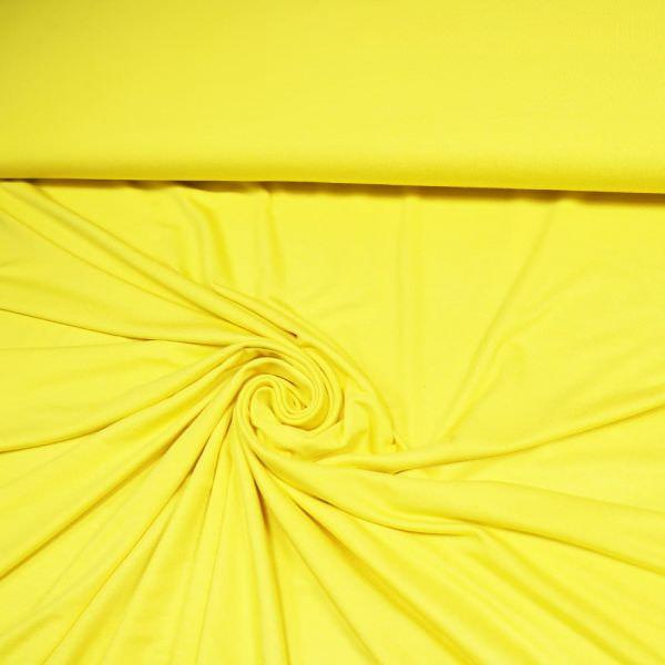 Viskosejersey uni - gelb