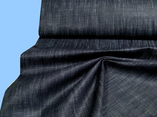 Jeansstoff meliert - dunkelblau