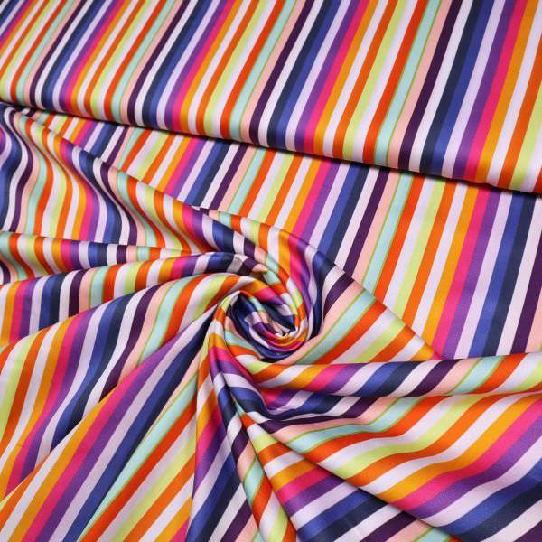 "Baumwoll-Viskose-Mix ""Regenbogenfarben"" - multicolor"