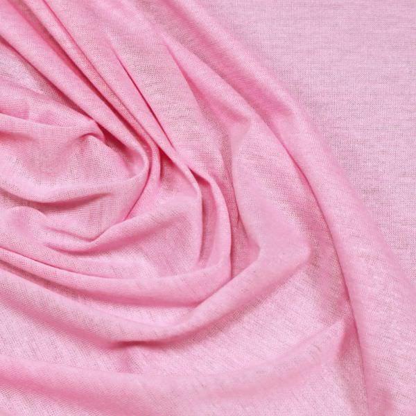 Feinstrick-Jersey uni - rosé