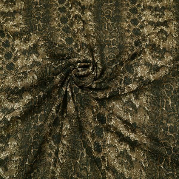 Chiffon mit Schlangenmuster - beige/braun/schwarz