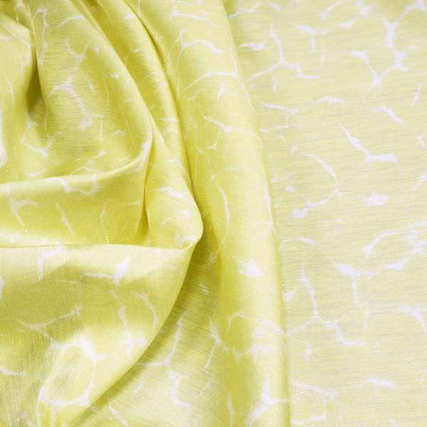 Leinen-Nylon-Mix Marmoriert - gelb/weiss
