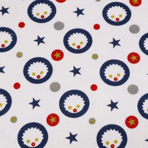 Sweatshirt Stoff Angeraut mit Kindermotiv - wollweiss/marineblau/rot/senfgelb/grau (Reststück 3,5m)