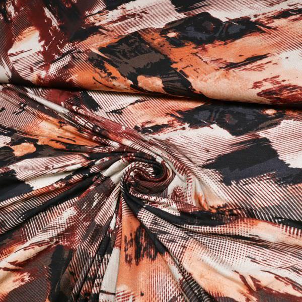 Viskosejersey Pinsel Streifen - beige/weinrot/anthrazit/lachs/braun/schwarz