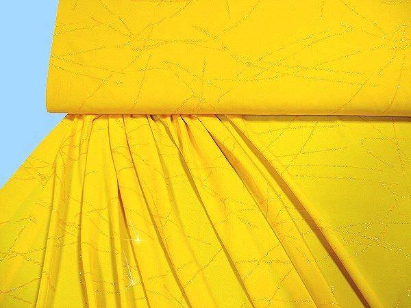 Feinjersey mit Glitzereffekt - gelb